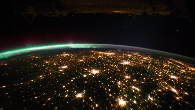 Time Lapse View from Space, Fly Over Earth