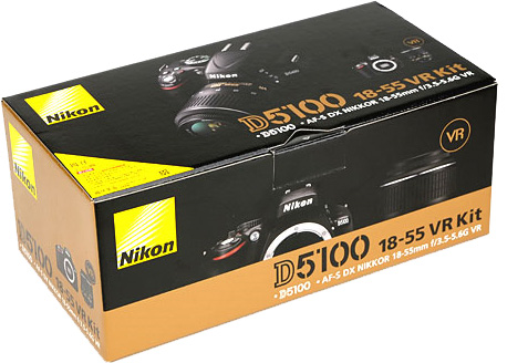 Nikon D5100 Digital SLR Camera Box With 18-55mm VR Lens