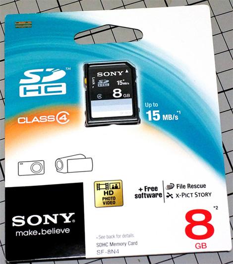 Sony SD-HC 8GB Memory Card - Class4