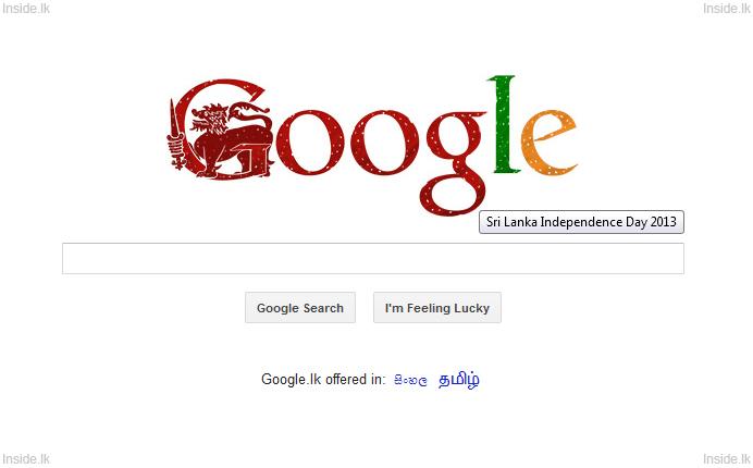 Google Doodle Sri Lanka Independence Day