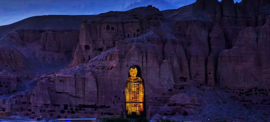 Bamiyan Buddhas back in laser Hologram form