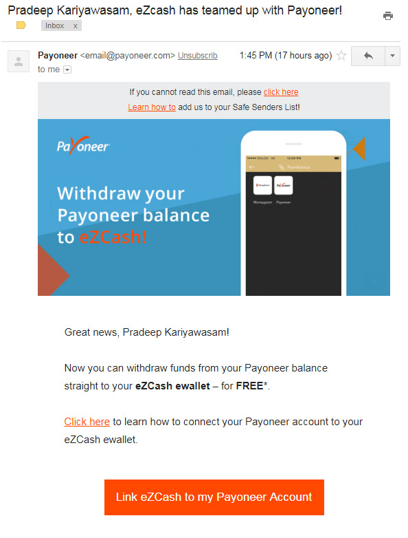 Dialog eZcash has teamed up with Payoneer - Sri Lanka