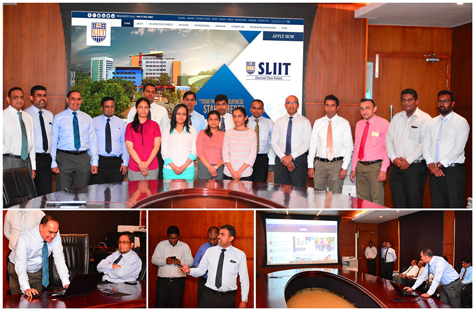 sliit website re-launched with much pomp and pageant