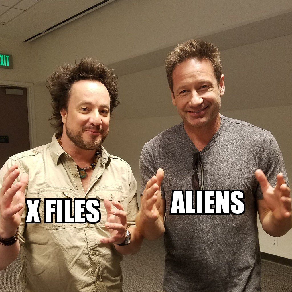 Mulder and Tsoukalos - trolling the trolls