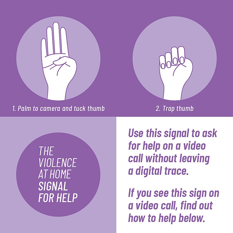 Everyone should know the International Signal for Help Me